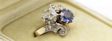 Bague Saphir et diamant