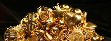 débris en or